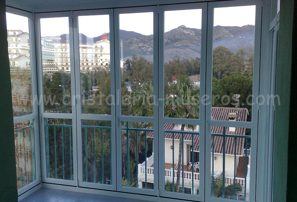 Cerramientos de cristal o aluminio cristaleria museros en - Cerramientos terrazas aluminio ...
