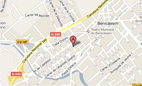 Localizacion de Cristaleria Museros en Benicasim